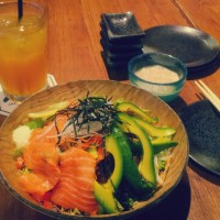 Salmon avocado salad @ Senya