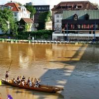 Punting, Neckar river, Tubingen