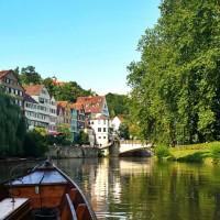 punt boat ride on Neckar, Tubingen