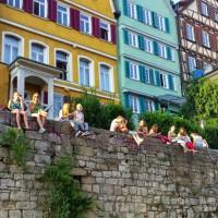 enjoy a beer on Neckar river in Tubingen
