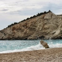 plaja Porto Katsiki din Lefkada, Grecia