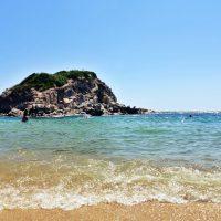 plaje din sithonia, Kalamitsi