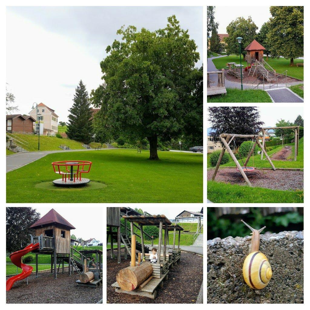 Locul de joaca public de langa Familienhotel Herbst